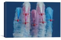 Red Arrows roll out, Canvas Print