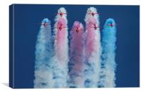 Red Arrows roll out 2, Canvas Print