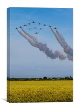 Red Arrows and Eagle Squadron, Canvas Print