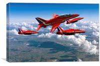 Red Arrows Montage, Canvas Print