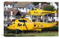 Sea King and Westland Whirlwind, Canvas Print