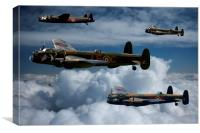Lancaster Bombers in Flight, Canvas Print