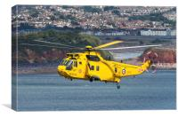 Raf Sea King Helicopter, Canvas Print