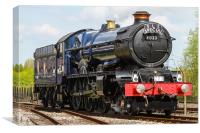 Steam Train King Edward II 2, Canvas Print