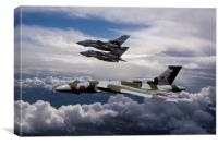 Vulcan Bomber XH558 and Tornados, Canvas Print