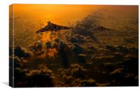 Vulcan bomber sunset, Canvas Print