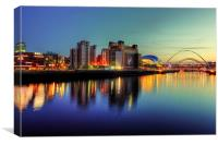 Reflecting on the Tyne, Canvas Print