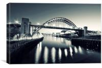 Before the Sunrise, The Tyne, Canvas Print