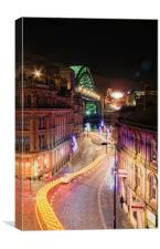 Looking over the Quayside, Canvas Print