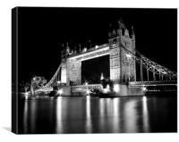 Tower Bridge Mono, Canvas Print