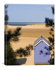 The Other Side, Beach Hut & View of Wells Beach, Canvas Print