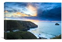 Storm over Pentire Head, Canvas Print