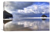 Trebarwith Strand Reflections, Canvas Print
