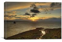 Penhallic Point Sunset, Canvas Print