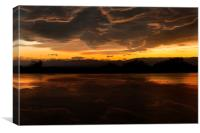 Angry sunset., Canvas Print
