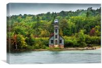 East Channel Lighthouse., Canvas Print
