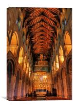 Wymondham Nave, Canvas Print