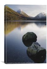 View to Kirkstone Pass from Brothers Water. Lake D, Canvas Print