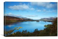 View over Derwent Water to Keswick., Canvas Print