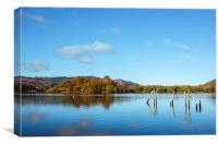 View over Derwent Water from Keswick., Canvas Print