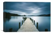 Jetty on Coniston Water., Canvas Print