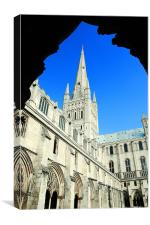 Cathedral and Archway, Canvas Print