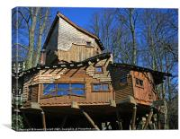 Alnwick Treehouse Restaurant, Canvas Print