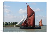 Thames Barge Cabby, Canvas Print