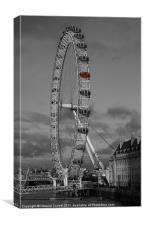 London Eye champagne pod, Canvas Print