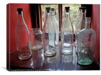 Vintage bottles, Canvas Print