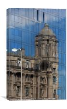 Liverpool fragmented, Canvas Print