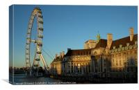 London Eye at dusk, Canvas Print