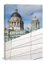 Liverpool Old and New, Canvas Print
