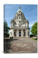 Ashton Memorial and Rose, Canvas Print