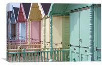 Mersea beach huts, Canvas Print