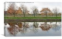 Autumnal reflection, Canvas Print