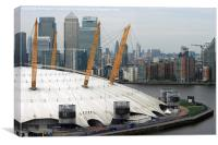 O2 and Docklands, Canvas Print