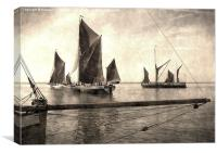 Maldon Barge Match 2010 vintage effect, Canvas Print