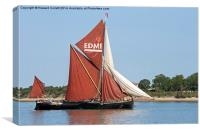 Thames Barge Edme, Canvas Print