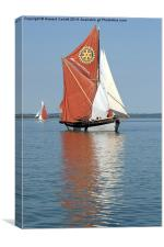 Thames Barge Cambria, Canvas Print