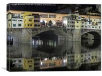 Ponte Vecchio at night , Canvas Print