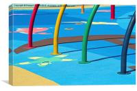Playground abstract  2, Canvas Print