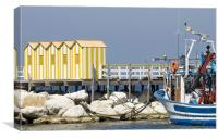 Sorrento beach huts, Canvas Print