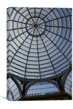 Arcade roof, Naples, Canvas Print