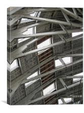Chatham Dockyard roof, Canvas Print