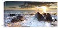 Caistor beach sunrise, Canvas Print