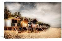 Beach Huts at Wells, Canvas Print