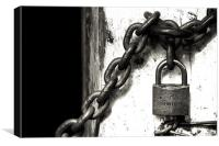 Locked out or in?, Canvas Print