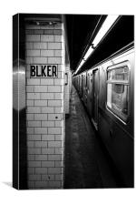 Bleecker Street platform - New York, Canvas Print