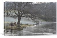 2. Loughrigg Tarn Frozen in Time (Winter), Canvas Print